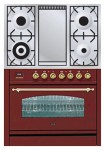 Kitchen Stove ILVE PN-90F-MP Red