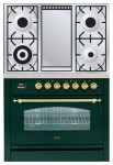 Kitchen Stove ILVE PN-90F-MP Green