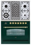 Kitchen Stove ILVE PN-90B-MP Green