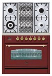 Kitchen Stove ILVE PN-90B-MP Red