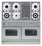 Kitchen Stove ILVE PDW-120B-MP Stainless-Steel